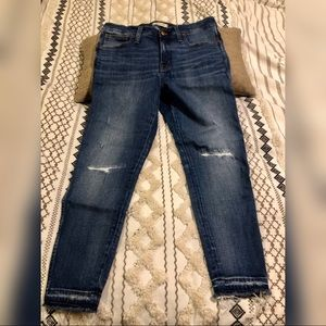 "Madewell 9"" High Rise Skinny Destroyed"